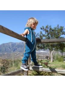 Комбинезон из футера без рукавов детский, Темно-бирюзовый (БАМБИНИЗОН / Bambinizon)