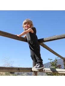 Комбинезон из футера без рукавов детский, Темно-серый (БАМБИНИЗОН / Bambinizon)