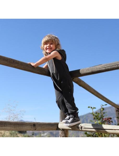 Комбинезон из футера без рукавов детский, Зеленая лужайка (БАМБИНИЗОН / Bambinizon)