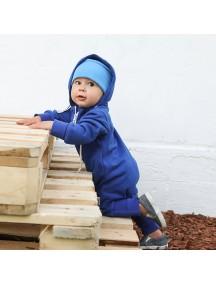 Комбинезон из футера детский с вшивным капюшоном, Василек (БАМБИНИЗОН / Bambinizon)
