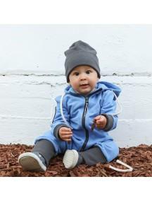 Комбинезон из футера детский с вшивным капюшоном, Гавань (БАМБИНИЗОН / Bambinizon)
