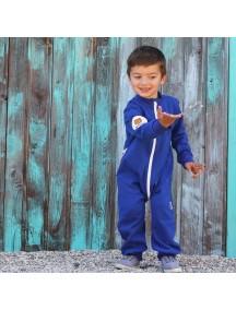 Комбинезон из футера детский без капюшона, Индиго (БАМБИНИЗОН / Bambinizon)