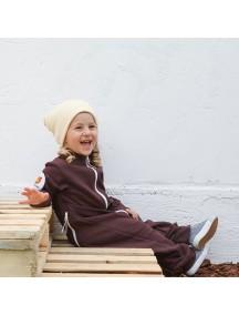 Комбинезон из футера детский на молнии без капюшона, Шоколадная помадка (БАМБИНИЗОН / Bambinizon)