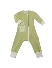 Пижама на кнопках детская, Елочка зеленая (БАМБИНИЗОН / Bambinizon)