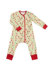 Пижама на кнопках детская, Елочки (БАМБИНИЗОН / Bambinizon)