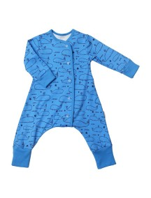 Пижама на кнопках детская, Киты (БАМБИНИЗОН / Bambinizon)