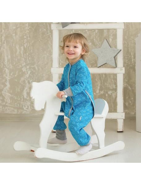 Пижама на кнопках детская, Облака (БАМБИНИЗОН / Bambinizon)
