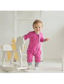 Пижама на кнопках детская, Цветочный луг (БАМБИНИЗОН / Bambinizon)