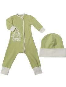 Пижама+шапка детские, Елочка (БАМБИНИЗОН / Bambinizon)