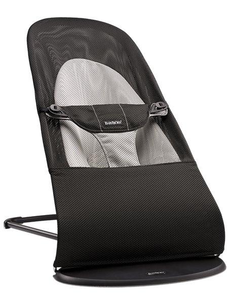 """Детское кресло-шезлонг """"Balance Soft Air"""" от BabyBjorn Black/Gray Черно-Серый"""