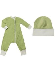 Пижама+шапка детские, Нежно-зеленый (БАМБИНИЗОН / Bambinizon)