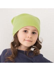 Шапочка детская дошкольная р.110-122, Зеленое яблоко (БАМБИНИЗОН / Bambinizon)