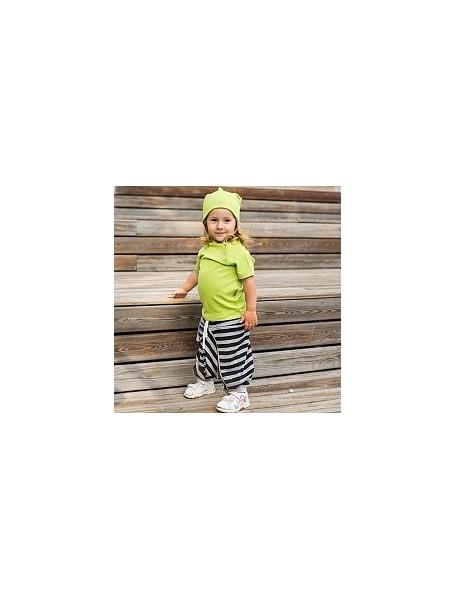 Штанишки детские, Полоска серый меланж (БАМБИНИЗОН / Bambinizon)