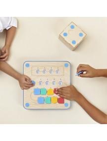 Игровой набор для обучения программированию с 3 лет, деревянный робот Кьюбетто /Cubetto