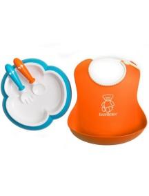 Набор для кормления BabyBjorn , оранжевый-бирюзовый