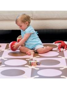 Игровой коврик-пазл SKIP HOP Playspot Розовый/Коричневый