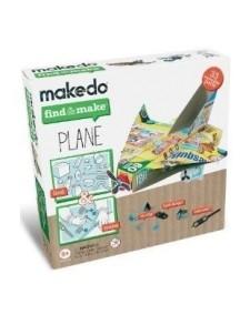 """Конструктор MAKEDO """"Подумай и сделай самолет"""", 33 детали"""