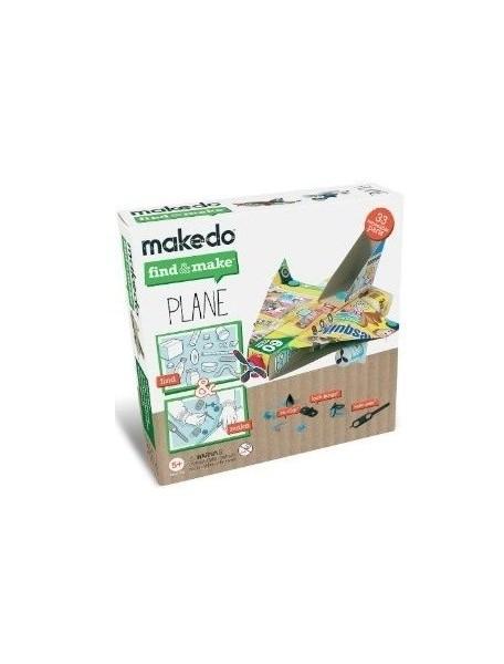 Конструктор MAKEDO FM07-001 Подумай и сделай самолет, 33 детали