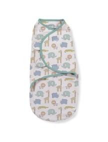 """Конверт для пеленания Summer Infant """"SwaddleMe"""",M, Слоники и зонтики"""