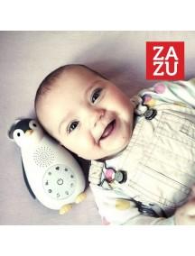 Беспроводная колонка+проигрыватель+ночник пингвинёнок Зои серый (ZAZU ZOE)