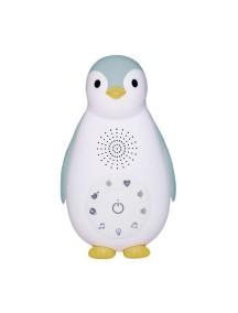 Беспроводная колонка+проигрыватель+ночник пингвинёнок Зои синий (ZAZU ZOE)