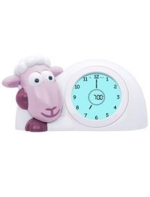Часы-будильник для тренировки сна Ягнёнок Сэм (SAM) ZAZU (розовый)