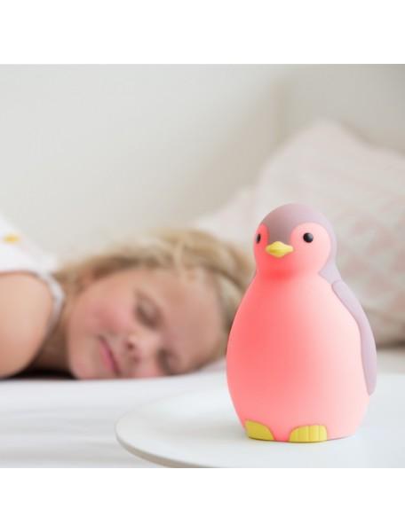 3 в 1: тренер сна, светильник и беспроводная колонка пингвинёнок Пэм Зазу, розовый (PAM ZAZU)