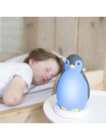 3 в 1: тренер сна, светильник и беспроводная колонка пингвинёнок Пэм Зазу, серый (PAM ZAZU)