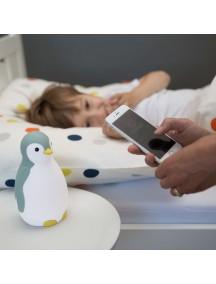 3 в 1: тренер сна, светильник и беспроводная колонка пингвинёнок Пэм Зазу, синий (PAM ZAZU)