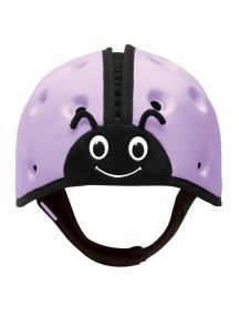 Мягкая шапка-шлем для защиты головы ТМ SafeheadBABY Божья коровка. Фиолетовая
