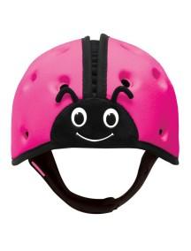 Мягкая шапка-шлем для защиты головы ТМ SafeheadBABY Божья коровка. Розовая
