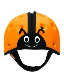 Мягкая шапка-шлем для защиты головы ТМ SafeheadBABY Божья коровка. Оранжевая