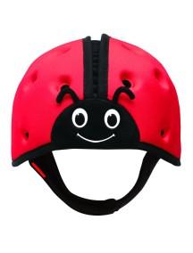 Мягкая шапка-шлем для защиты головы ТМ SafeheadBABY Божья коровка. Красная