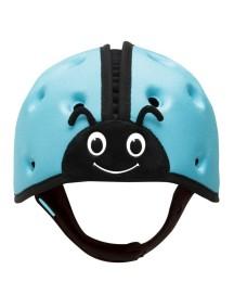 Мягкая шапка-шлем для защиты головы ТМ SafeheadBABY Божья коровка. Синяя