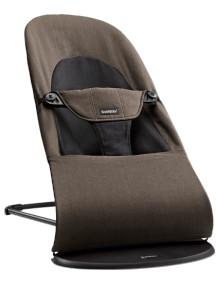 "BabyBjorn ""Balance Soft Organic"" Детский шезлонг (кресло - шезлонг), Black / Brown"