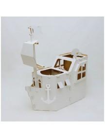 Домик из картона «Мечта Пирата», белый  /Картонный папа