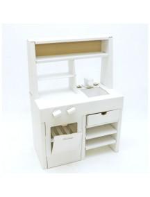 Игрушка из картона «Картонная кухня», белая   /Картонный папа