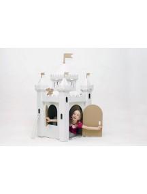 Домик из картона «Сказочный замок», белый  /Картонный папа