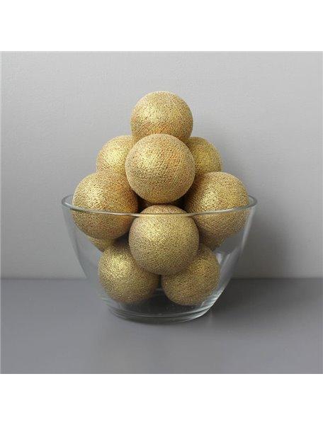 Тайская гирлянда золотая