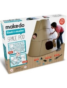 """Конструктор MAKEDO """"Подумай и сделай космический корабль"""", 57 деталей"""