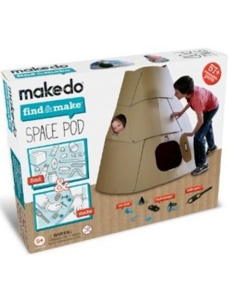 Конструктор MAKEDO FM09-001 Подумай и сделай космический корабль, 57 деталей