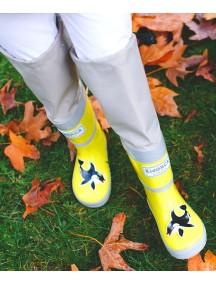 Высокие резиновые сапоги на хлопке МайПаддлБутс от КидОРКА (MyPuddle Boots  KidORCA). Цвет Желтый
