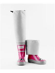 Резиновые сапоги на хлопке МайПаддлБутс от КидОРКА (MyPuddle Boots  KidORCA). Цвет Розовый