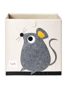 """Коробка для хранения 3 Sprouts """"Серая мышка"""""""