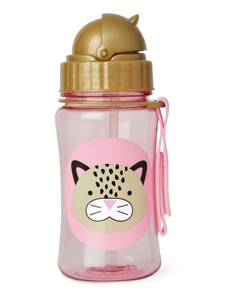 """Поильник с трубочкой детский """"Леопард"""" Skip Hop Zoo Straw Bottle"""