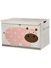 Сундук для хранения игрушек 3 Sprouts Розовый гиппопотам