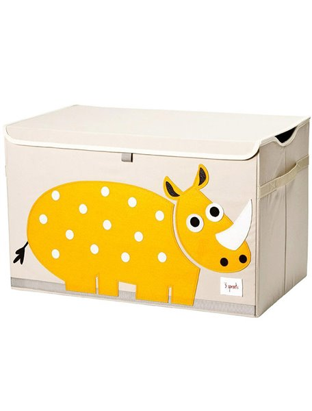 Сундук для хранения игрушек 3 Sprouts Желтый Носорог