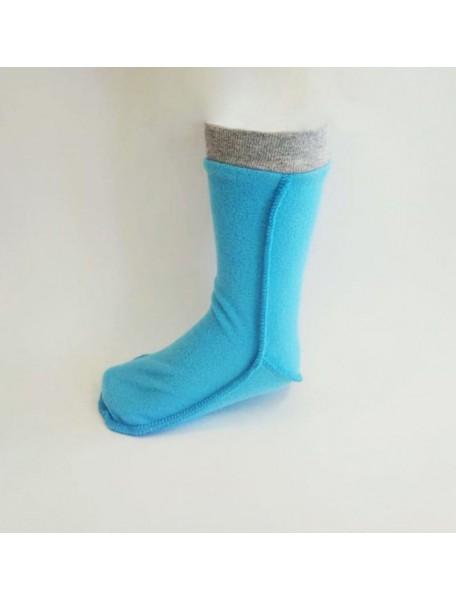 Детские флисовые термоноски для резиновых сапог от КидОРКА (KidORCA) Цвет Голубой