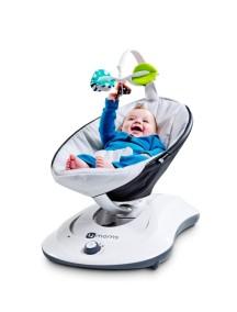 Электронное кресло-качалка 4moms RockaRoo Рокару серебристый