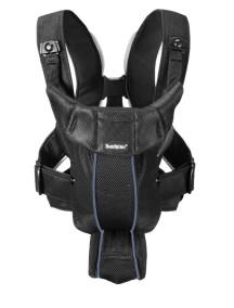 Рюкзак-Кенгуру Original BabyBjorn для переноски ребенка облегченный черный-голубой Mesh (Air)